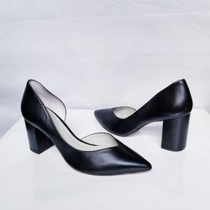1. State Half D'Orsay Pointed Toe Pump Leather 8.5
